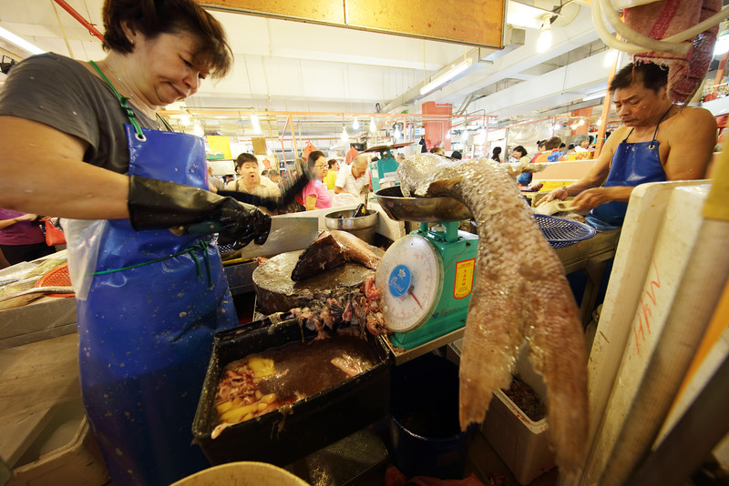 """Fish tails and fish guts at Chinatown wet market.<br><span style=""""font-size:75%"""">©Yangchen Lin</span>"""