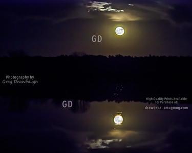 Super Moon Reflection