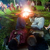 "campfire at Makerere University Biological Field Station<br><span style=""font-size:75%"">©Yangchen Lin</span>"