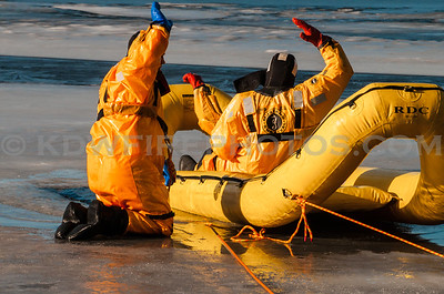 Andover Ice Rescue Training - Haggetts Pond - 1/27/16