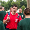 Tony Amavisca 1st Class PC (102 Platoon Commander) speaks to 1st Company Platoon 102 candidates during obstacle course training at SUNY Maritime College on July 14th, 2014.