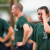 A 1st Company Platoon 102 candidate taking a moment to rest after completing the  obstacle course during obstacle  training at SUNY Maritime College on July 14th, 2014.