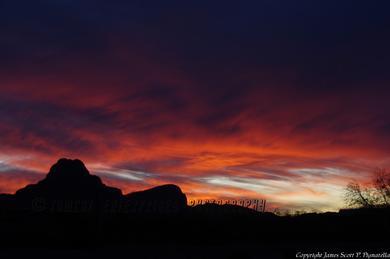 Sombrero Peak Sunset