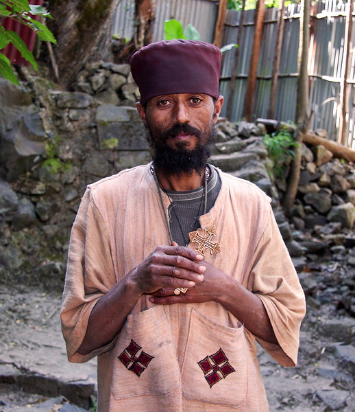 Ethiopian Coptic Priest.  Take at Debre Libanos monastery which was founded in the 13th century and sits in a 2200 foot high canyon.