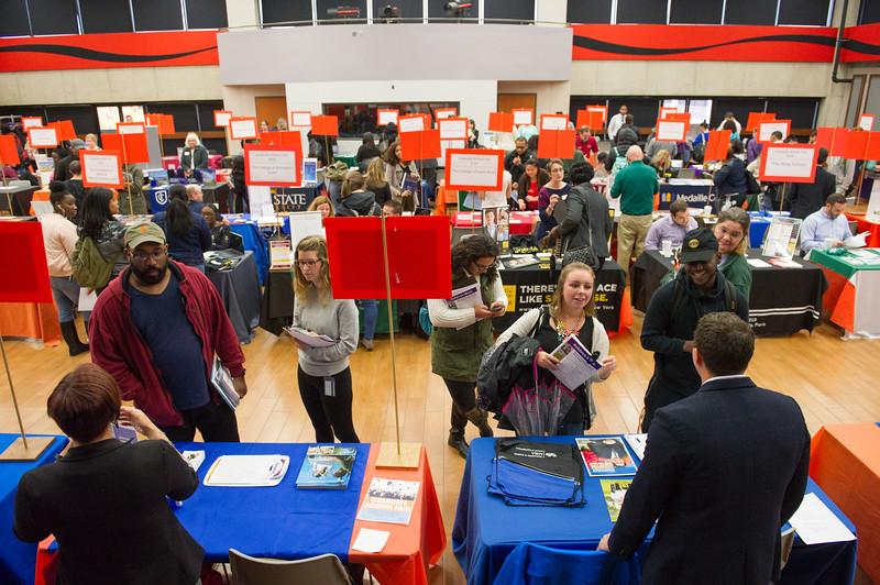 Graduate School Fair at Buffalo State College.