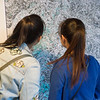 Visiting artist Xinying Yu art show in E.H. Butler Library at Buffalo State College.