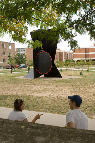 Fall campus scenics with students.