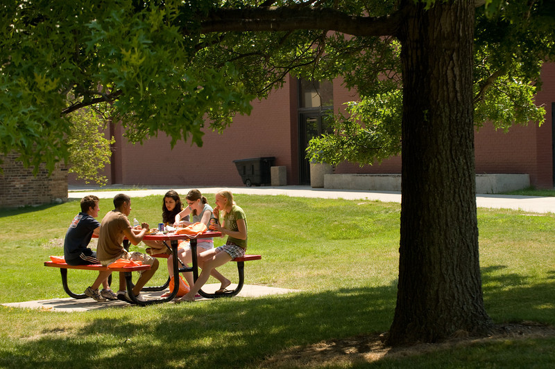 Summer campus scenics at Buffalo State College.