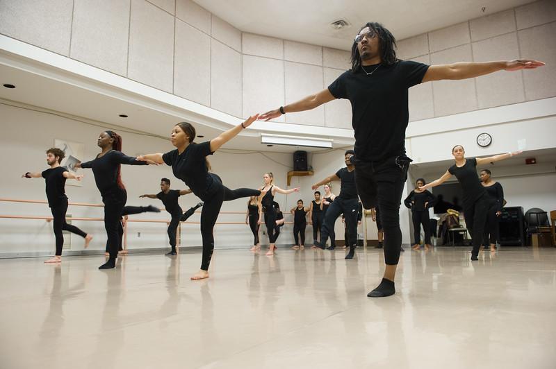 Modern Dance class at SUNY Buffalo State College.