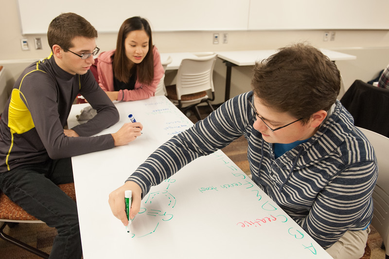 Honors Program students in class at Buffalo State College.