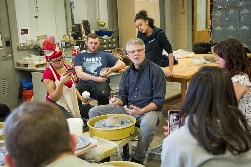Art and Design Ceramics class at Buffalo State College.