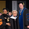 Holocaust survivor, Sophia Veffer receiving SUNY honorary doctorate during the 1pm Undergraduate Commencement at Buffalo State College.