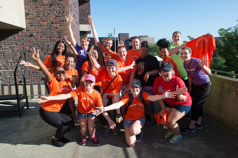 Bengals Dare to Care Day at Buffalo State College.