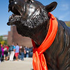 Bengal tiger sculpture decorated for Buffalo State's 2013 Homecoming Pep Rally.