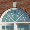 Detail photo of window in Donald Savage Building at SUNY Buffalo State College.