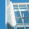 Close up detail of Science and Math Complex at SUNY Buffalo State College.