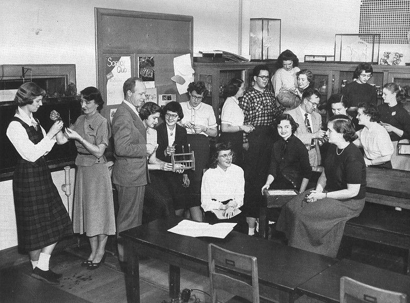 1953 Science Club group photo at Buffalo State College.