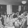 1946 students in cafeteria at Buffalo State College.