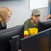 Students working in professor Anne Marie Franczyk's Communication class at Buffalo State College.