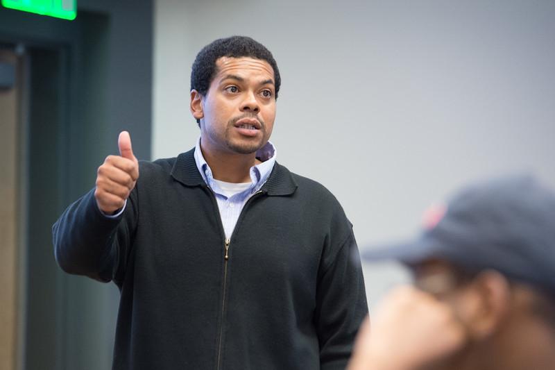 History Professor Steve Peraza teaching at Buffalo State College.