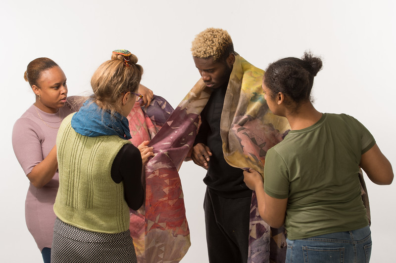 Wearable art FIber Design student projects at Buffalo State College.