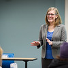 Psychology professor, Dr. Jill Norvilitis teaching her Abnormal Child Psychology (PSY393) course at SUNY Buffalo State  College.
