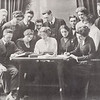 """1913 """"The Record"""" student newspaper staff at SUNY Buffalo State College."""