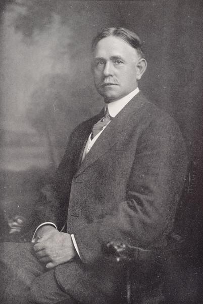 1912 photo of Principal Daniel Upton for 150th anniversary celebration at SUNY Buffalo State College.