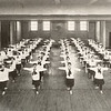 1922 photo of students in the gymasium for 150th anniversary celebration at SUNY Buffalo State College.