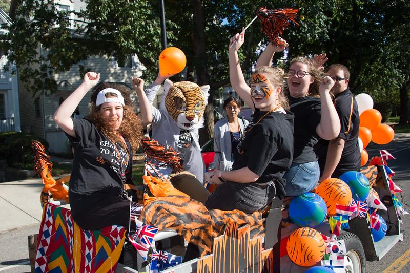 Homecoming parade at Buffalo State College.