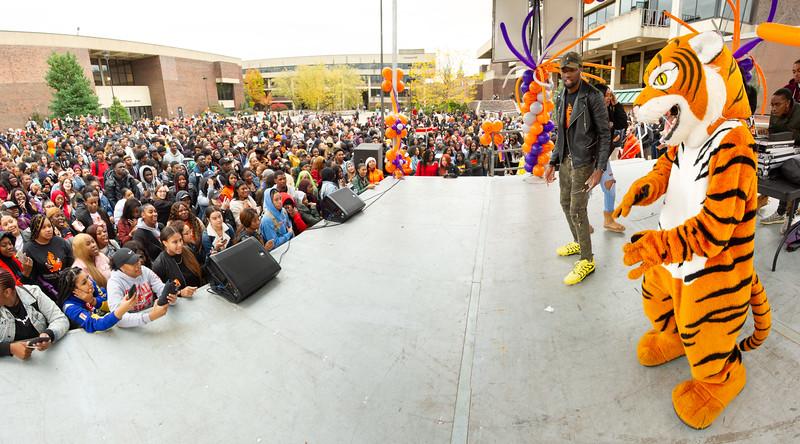 Homecoming Pep Rally at SUNY Buffalo State College.