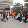 Homecoming party on the quad at Buffalo State College.