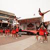 Cheerleaders at Homecoming Pep Rally at SUNY Buffalo State.