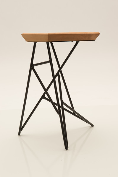 Stool created by Wood Design student Adam Ianni at Buffalo State College.