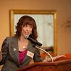 NY State Teacher of the Year, Katie Ferguson speaking at the .Professional Development Schools Consortium Retreat.
