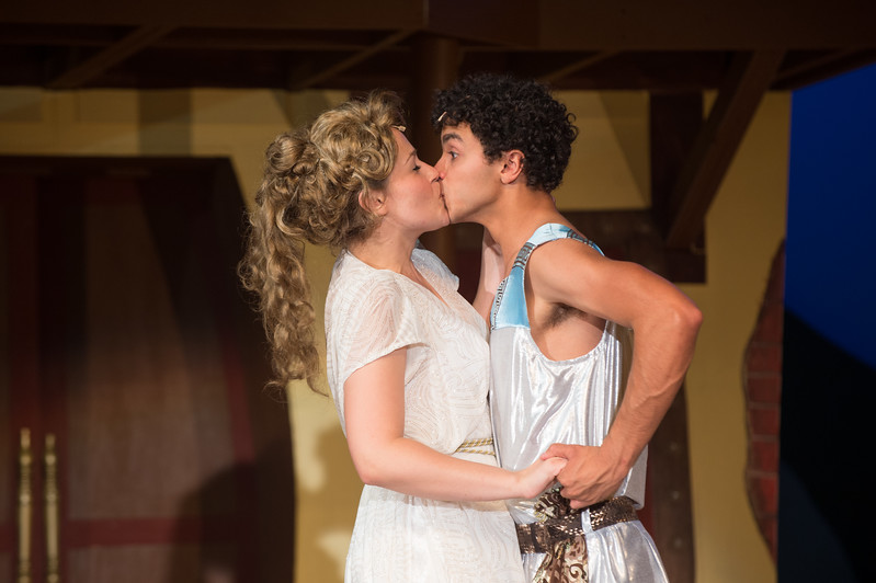 """Student theater production of """"A Funny Thing Happened on the Way to the Forum"""" at SUNY Buffalo State."""
