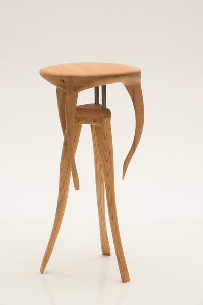 Stool created by Wood Design student Chris Walsh at Buffalo State College.