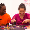 """""""Stitch Buffalo: Refugee Women's Workshop"""" during day-two of the Anne Frank Project at SUNY Buffalo State. of the Anne Frank Project at SUNY Buffalo State."""
