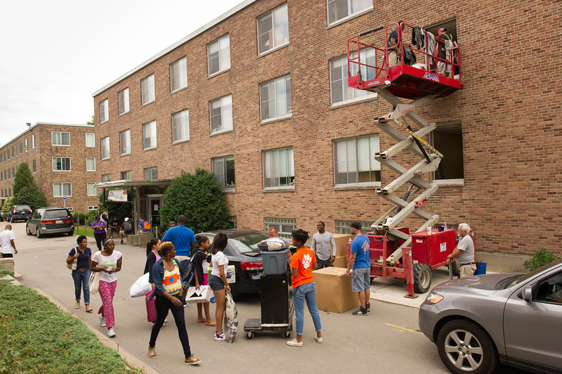 Move-in day at SUNY Buffalo State.