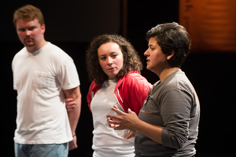 """Theater production of """"Sweatshirt"""" during day-two of the Anne Frank Project at SUNY Buffalo State."""