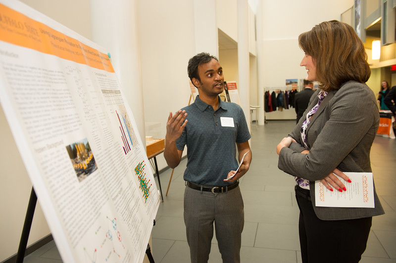 Graduate Thesis Awards reception at SUNY Buffalo State.