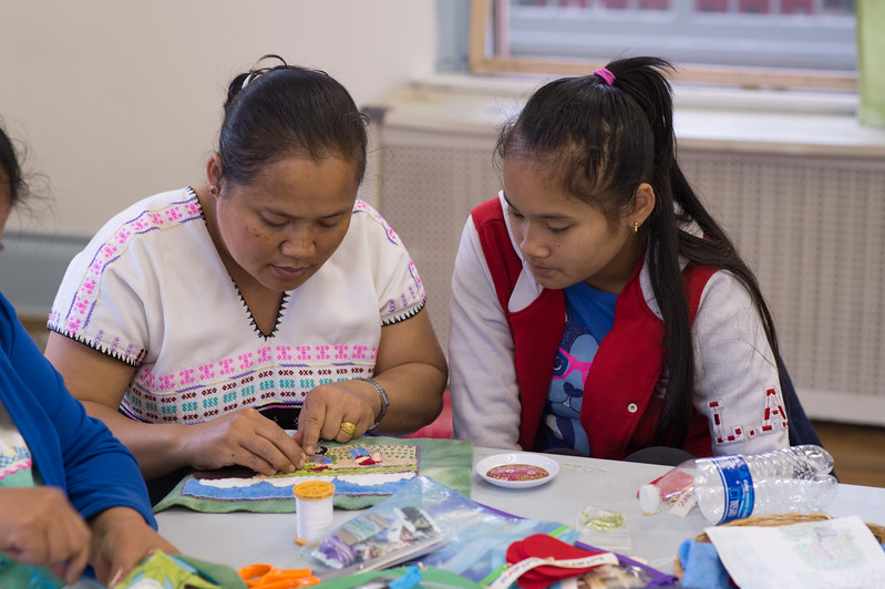 Stitch Buffalo's Refugee Women's Workshop at the Concerned Ecumenical Ministries (CEM) building in Buffalo, New York.