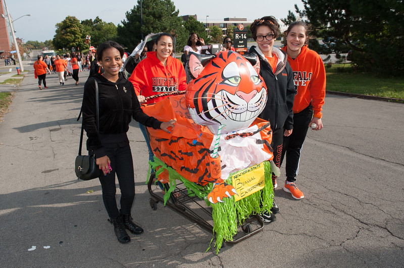 Homecoming Parade at SUNY Buffalo State.