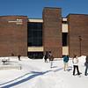 Winter campus scenic.