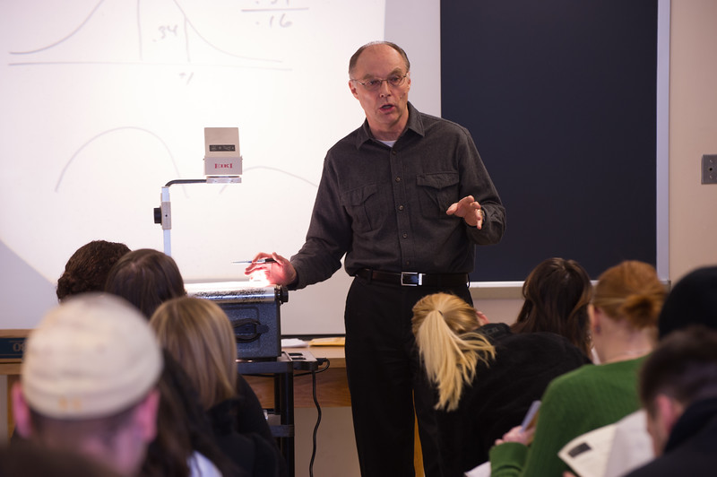 Dr. Howard Reid's psychology class at Buffalo State.