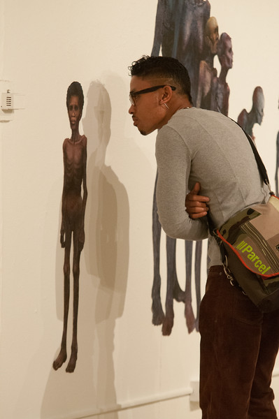 """I am Poor,I am Hungry"" artist reception during day-two of the Anne Frank Project at SUNY Buffalo State."