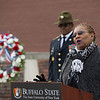 Silent March ceremony  in honor of Veteran's Day at SUNY Buffalo State.