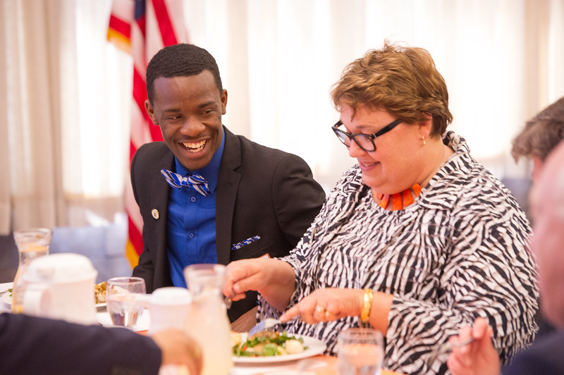 Kenzie Scholars Lunch at Buffalo State College.