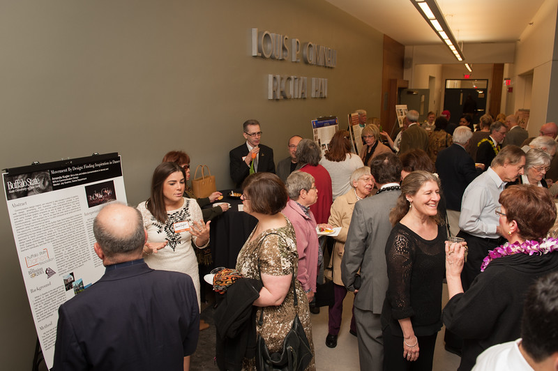 Arts and Humanities Contributors Celebration outside the Ciminelli Recital Hall at SUNY Buffalo State.