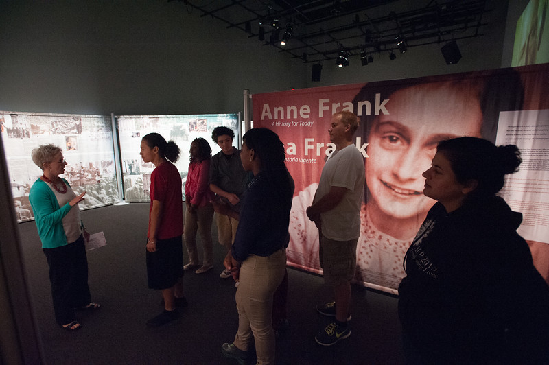 Anne Frank exhibit at the Burchfield-Penney Art Center during the Anne Frank Project at Buffalo State.